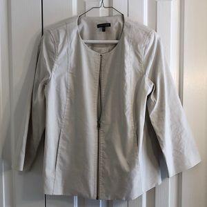 Eileen fisher size S cream lightweight jacket EUC